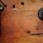 hardware on wood
